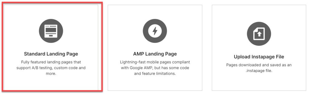 Instapageでランディングページの作成方法